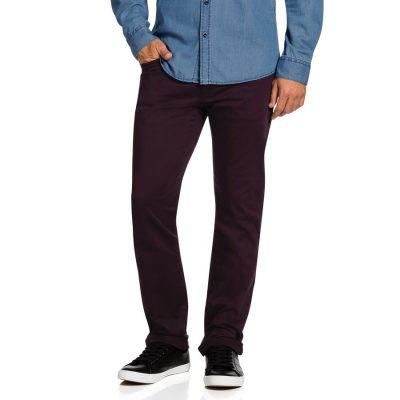 Fashion 4 Men - Tarocash Benny Stretch 5 Pkt Pant Burgundy 32