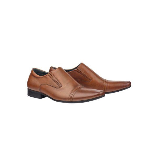Fashion 4 Men - Tarocash Bourbon Slip On Shoe Tan 8