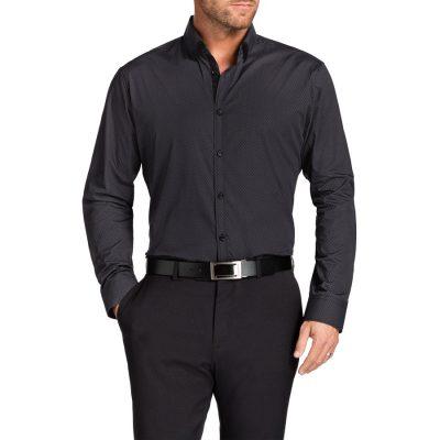 Fashion 4 Men - Tarocash Brady Print Shirt Charcoal S