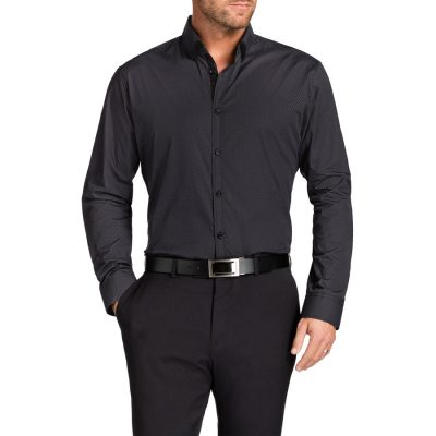 Fashion 4 Men - Tarocash Brady Print Shirt Charcoal Xl