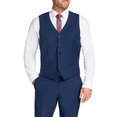 Fashion 4 Men - Tarocash Chaney Waistcoat Blue 4 Xl
