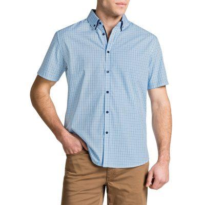 Fashion 4 Men - Tarocash Chitty Checked Shirt Aqua Xl