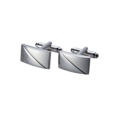 Fashion 4 Men - Tarocash Classic Cuff Link Silver 1