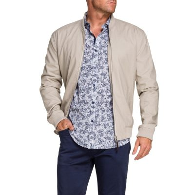 Fashion 4 Men - Tarocash Clinton Bomber Jacket Sand Xxxl