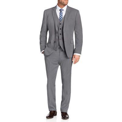 Fashion 4 Men - Tarocash Donahue Stretch 2 Button Suit Silver 46