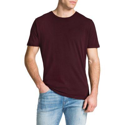 Fashion 4 Men - Tarocash Essential Crew Neck Tee Burgundy M