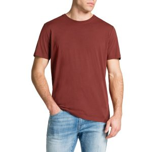 Fashion 4 Men - Tarocash Essential Crew Neck Tee Rust S