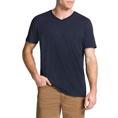 Fashion 4 Men - Tarocash Essential V Neck Tee Navy Marle S