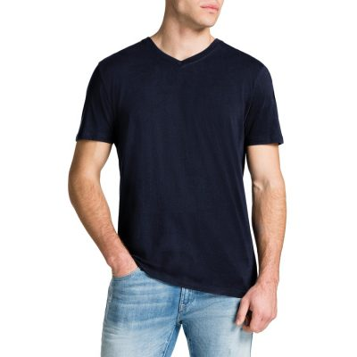 Fashion 4 Men - Tarocash Essential V Neck Tee Navy S