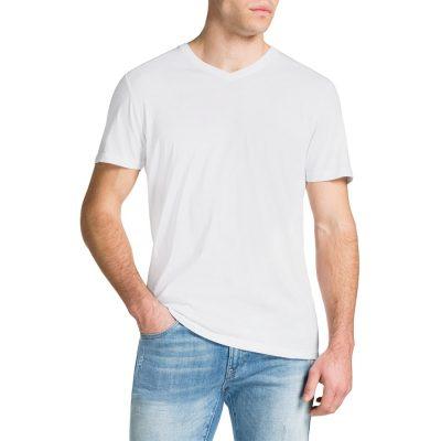 Fashion 4 Men - Tarocash Essential V Neck Tee White S
