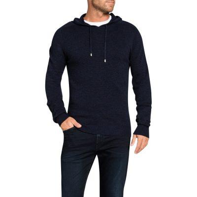 Fashion 4 Men - Tarocash Jason Waffle Hooded Knit Navy Xl