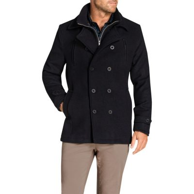 Fashion 4 Men - Tarocash Jez Db Melton Coat Navy S