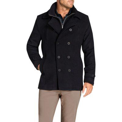 Fashion 4 Men - Tarocash Jez Db Melton Coat Navy Xxl