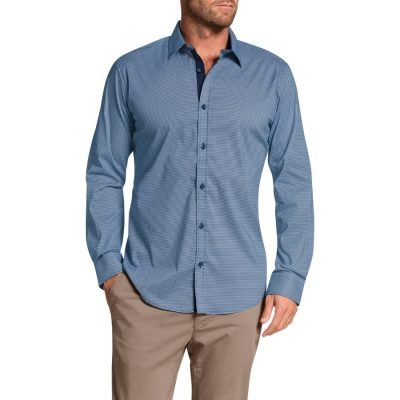 Fashion 4 Men - Tarocash Lucas Stretch Print Shirt Navy S
