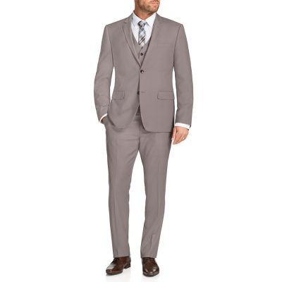 Fashion 4 Men - Tarocash Melnick 2 Button Suit Pebble 34