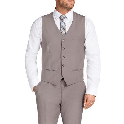 Fashion 4 Men - Tarocash Melnick Waistcoat Pebble Xs