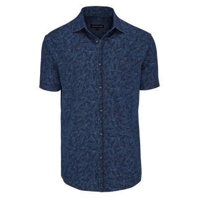 Fashion 4 Men - Tarocash Paisley Denim Shirt Indigo 5 Xl