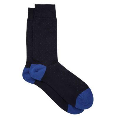 Fashion 4 Men - Tarocash Polka Dot Sock Blue 1