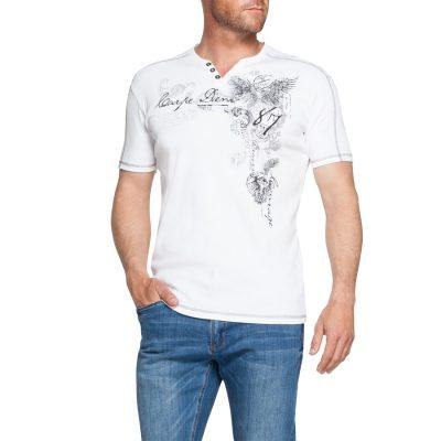Fashion 4 Men - Tarocash Prince Printed Tee White M