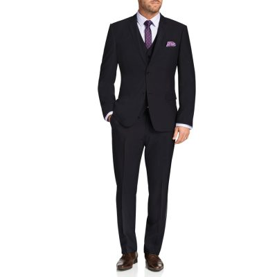 Fashion 4 Men - Tarocash Regan Stretch 2 Button Suit Charcoal 36