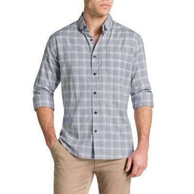 Fashion 4 Men - Tarocash Roger Check Shirt Grey L