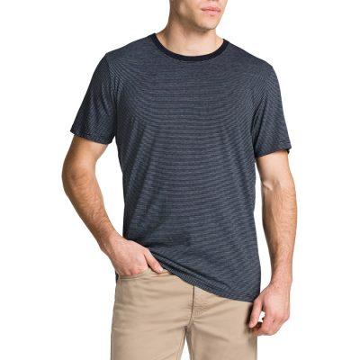 Fashion 4 Men - Tarocash Rogers Stripe Crew Neck Tee Navy Marle 4 Xl