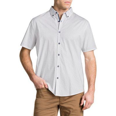 Fashion 4 Men - Tarocash Rohan Print Shirt White Xl