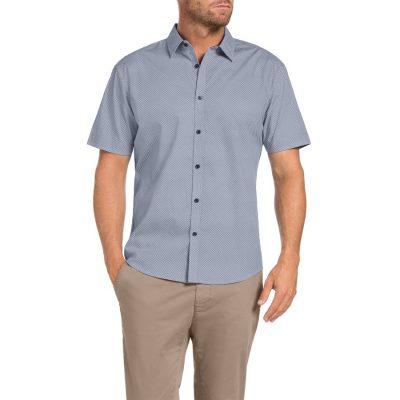 Fashion 4 Men - Tarocash Ronaldinho Printed Shirt Navy 4 Xl