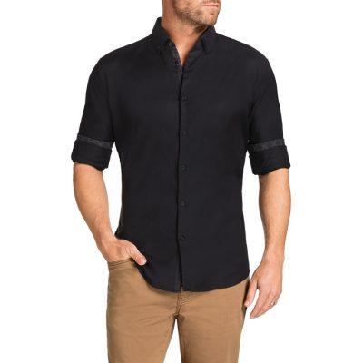 Fashion 4 Men - Tarocash Spellbound Textured Shirt Black M