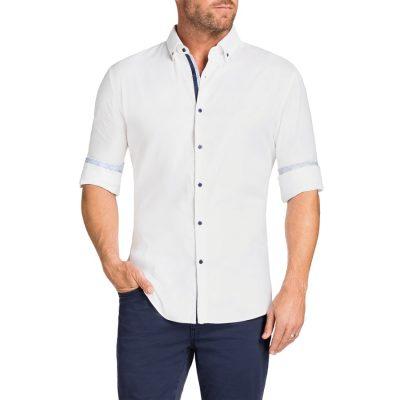 Fashion 4 Men - Tarocash Spellbound Textured Shirt White M