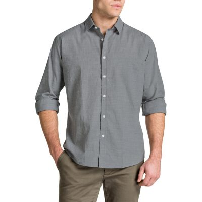 Fashion 4 Men - Tarocash Trinity Print Shirt Grey S
