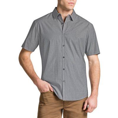 Fashion 4 Men - Tarocash Van Persie Printed Shirt Grey M