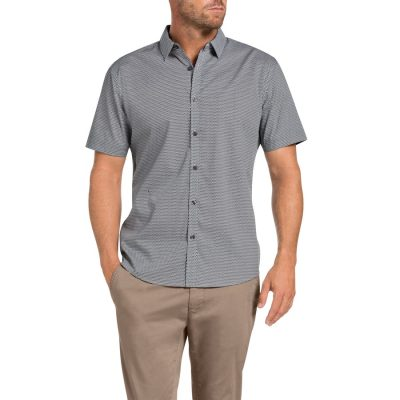 Fashion 4 Men - Tarocash Xavi Printed Shirt Black L