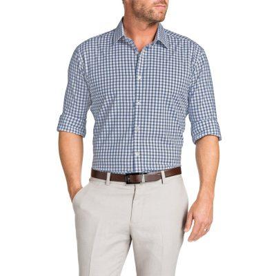 Fashion 4 Men - Tarocash Ali Check Shirt Indigo 4 Xl