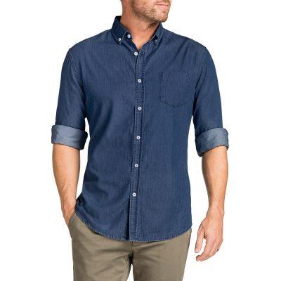Fashion 4 Men - Tarocash Antwerp Denim Shirt Indigo 5 Xl