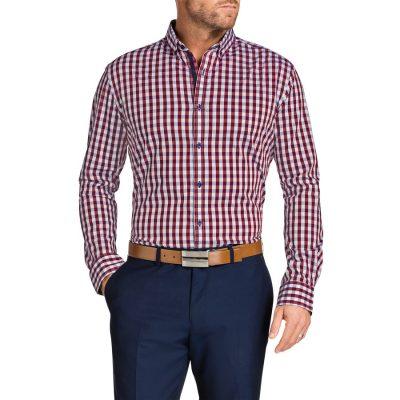 Fashion 4 Men - Tarocash Apollo Check Shirt Burgundy Xxl