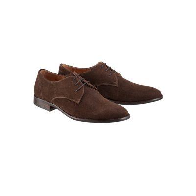 Fashion 4 Men - Tarocash Ben Suede Dress Shoe Chocolate 8