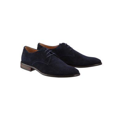 Fashion 4 Men - Tarocash Ben Suede Dress Shoe Navy 7