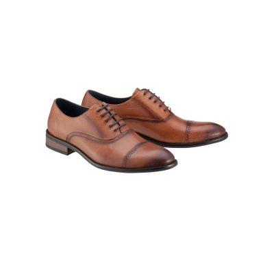 Fashion 4 Men - Tarocash Bill Brogue Shoe Tan 11