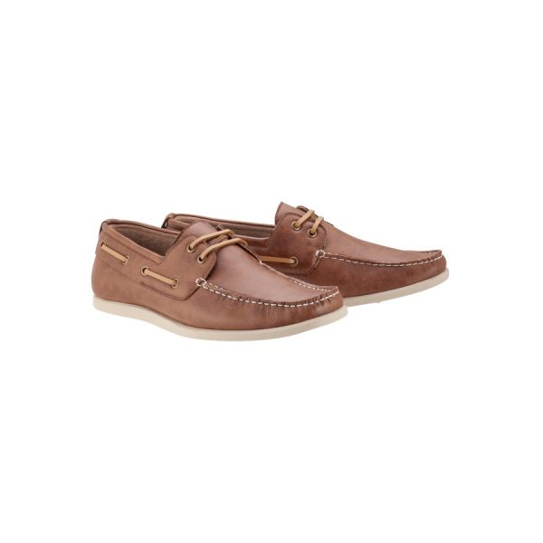 Fashion 4 Men - Tarocash Cain Boat Shoe Tan 11