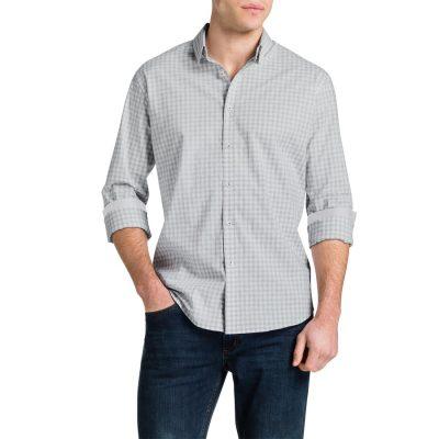 Fashion 4 Men - Tarocash Clint Check Shirt Grey Xxxl
