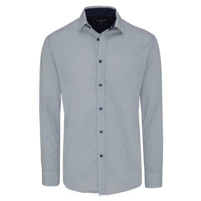 Fashion 4 Men - Tarocash Clock Print Shirt Navy Xl