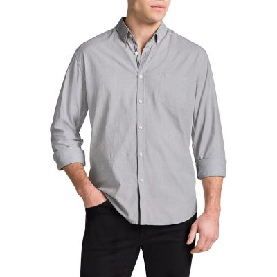 Fashion 4 Men - Tarocash Cool Cotton Shirt Cement M