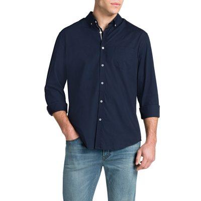 Fashion 4 Men - Tarocash Cool Cotton Shirt Navy M