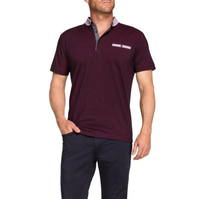 Fashion 4 Men - Tarocash Daniel Polo Burgundy 5 Xl