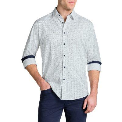 Fashion 4 Men - Tarocash Dome Print Shirt White S