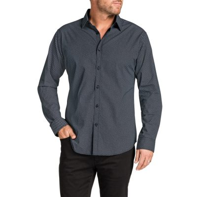 Fashion 4 Men - Tarocash Duke Print Shirt Black Xl