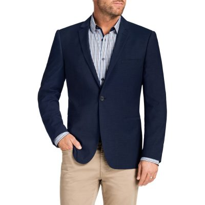 Fashion 4 Men - Tarocash Duke Textured 1 Button Jacket Blue 4 Xl