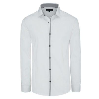 Fashion 4 Men - Tarocash Ellington Slim Stretch Shirt White Xl