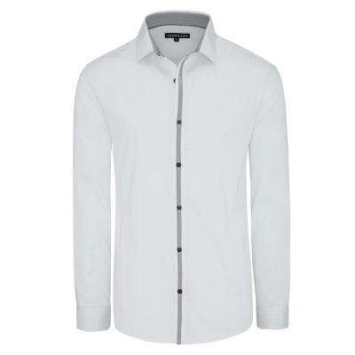 Fashion 4 Men - Tarocash Ellington Slim Stretch Shirt White Xxxl
